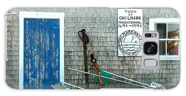 Chilmark Dock Shack Galaxy Case by Kathy Barney