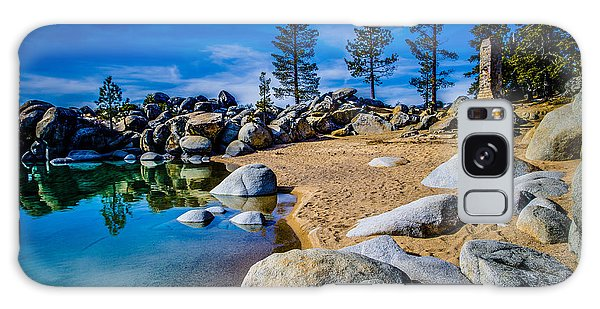 Chimney Beach Lake Tahoe Galaxy Case