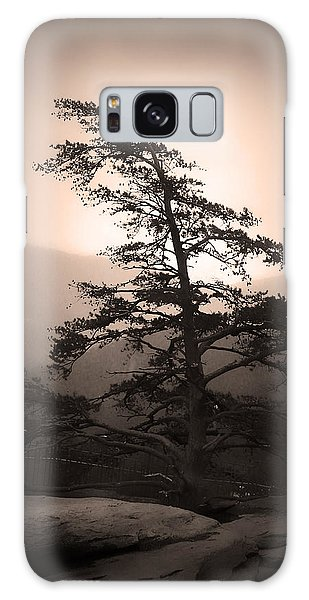 Chimney Rock Lone Tree In Sepia Galaxy Case
