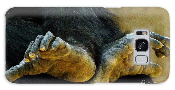 Chimpanzee Feet Galaxy Case by Clare Bevan