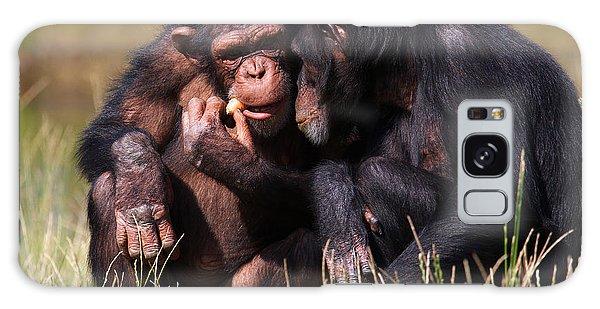 Chimpanzees Eating A Carrot Galaxy Case by Nick  Biemans