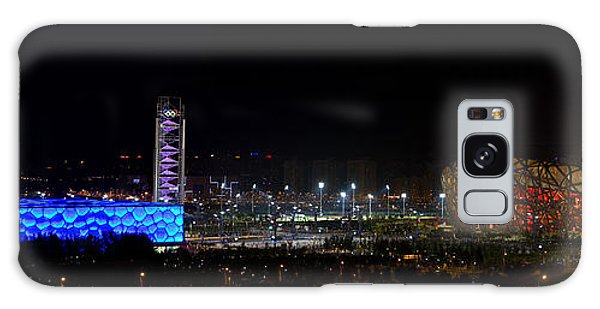 China Beijing Panorama Water Cube And Birds Nest Stadiums Galaxy Case