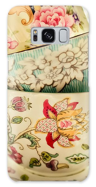 China Cups Galaxy Case by Colleen Kammerer
