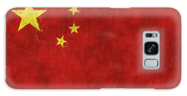People's Republic Of China Galaxy Case - China Flag by World Art Prints And Designs