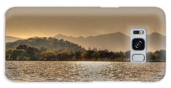 China Lake Sunset Galaxy Case