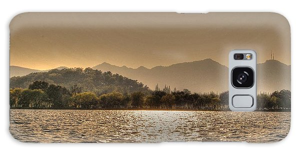 China Lake Sunset Galaxy Case