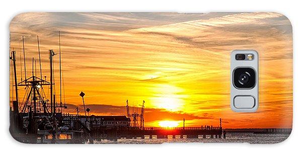 Chincoteague Bay Sunset Galaxy Case
