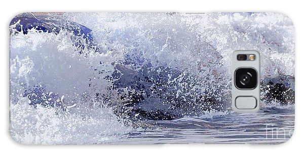 Chincoteague Waves Galaxy Case by Olivia Hardwicke
