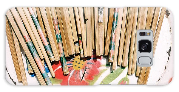 Chinese Chopsticks On A Colorful Plate Galaxy Case by Dean Harte
