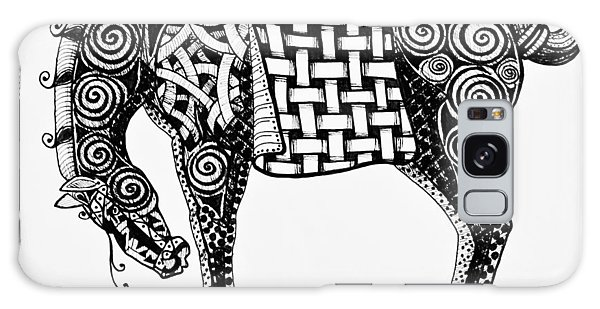 Chinese Horse - Zentangle Galaxy Case by Jani Freimann