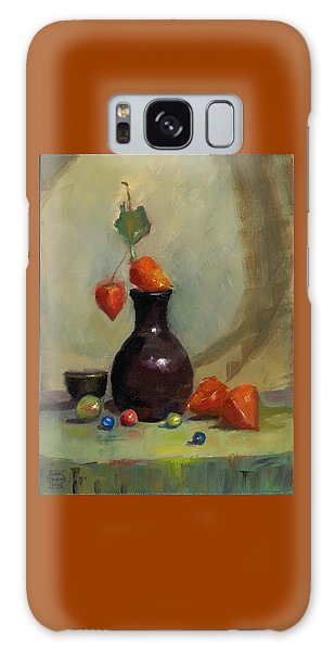 Chinese Lanterns And Marbles Galaxy Case by Susan Thomas