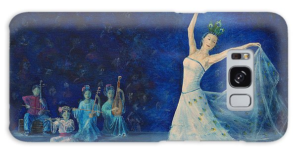 Chinese Peacock Dance-1 Galaxy Case by Anthony Lyon