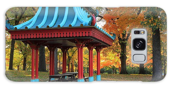 Chinese Shelter In Autumn Galaxy Case by Scott Rackers