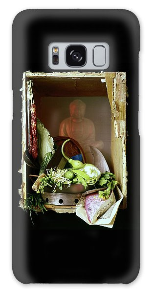 Chinese Statue With Cooking Items Galaxy Case