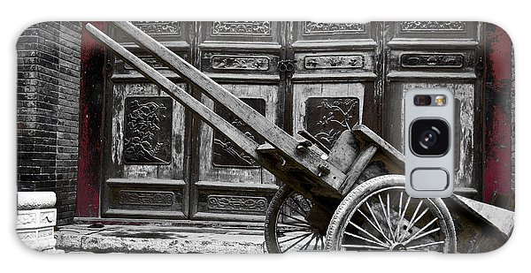 Chinese Wagon In Black And White Xi'an China Galaxy Case
