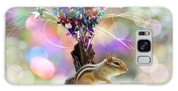 Chippy Party Time Galaxy Case by Peggy Collins