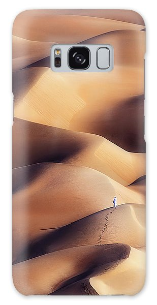 Sand Dunes Galaxy Case - Chocolate Dunes by Khalid Al Hammadi