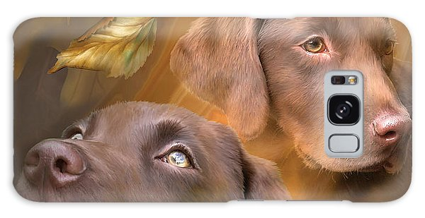 Chocolate Lab Galaxy Case - Chocolate Lab by Carol Cavalaris
