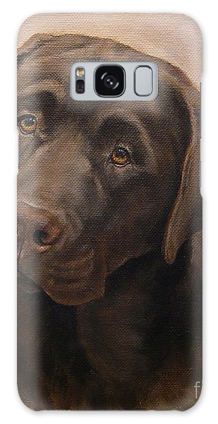 Chocolate Labrador Retriever Portrait Galaxy Case