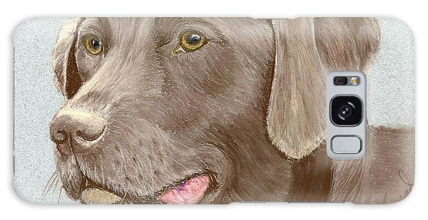 Chocolate Labrador Retriever Galaxy Case by Ruth Seal