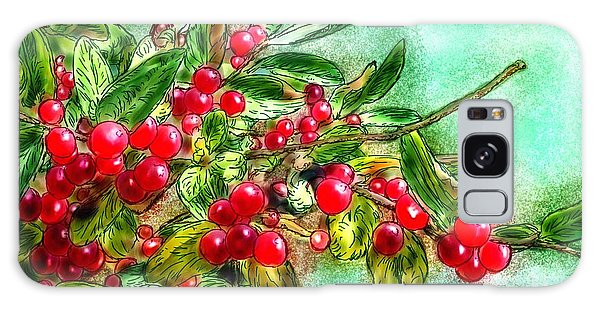 Chokecherry Branch Galaxy Case by Ric Darrell