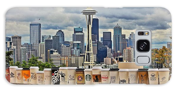 Seattle Skyline Galaxy S8 Case - Choose Your Brew by Benjamin Yeager