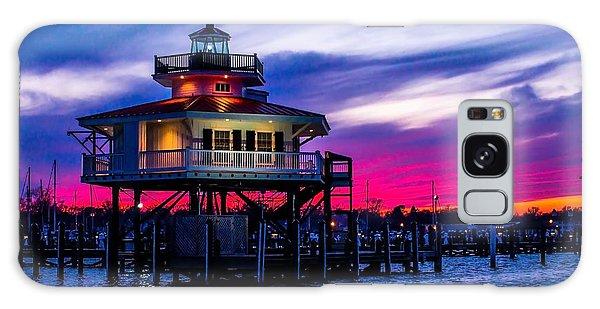 Choptank River Lighthouse At Dusk Galaxy Case