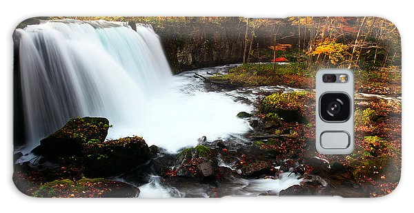 Galaxy Case featuring the photograph Choushi - Ootaki Waterfall In Autumn by Brad Brizek