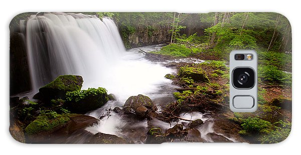 Galaxy Case featuring the photograph Choushi - Ootaki Waterfall In Summer by Brad Brizek