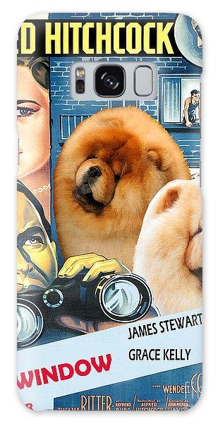 Chow Chow Art Canvas Print - Rear Window Movie Poster Galaxy Case