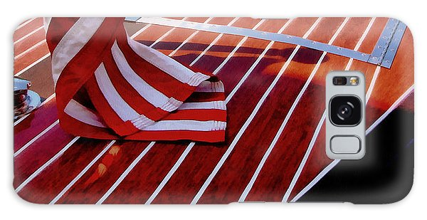 Motor Yacht Galaxy Case - Chris Craft With American Flag by Michelle Calkins