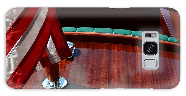 Motor Yacht Galaxy Case - Chris Craft With Flag And Steering Wheel by Michelle Calkins
