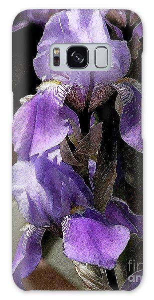 Chris' Garden - Iris 4 Galaxy Case by Stuart Turnbull