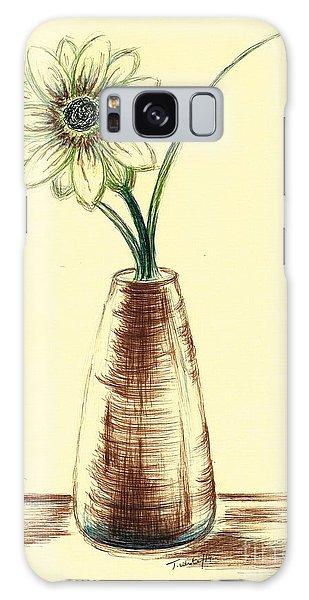 Chrysanthemum Flower Galaxy Case by Teresa White