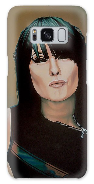 Realistic Galaxy Case - Chrissie Hynde Painting by Paul Meijering