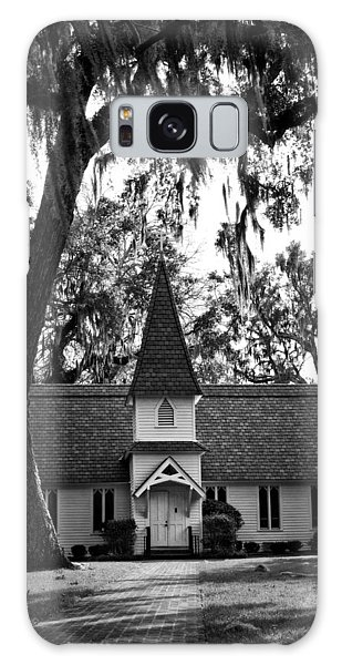 Christ Church Frederica In Black And White Galaxy Case