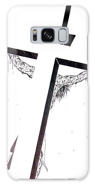 Christ On Cross Galaxy Case by Justin Moore