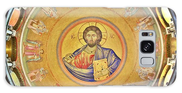 Sacred Heart Galaxy Case - Christ Pantocrator -- Church Of The Holy Sepulchre by Stephen Stookey