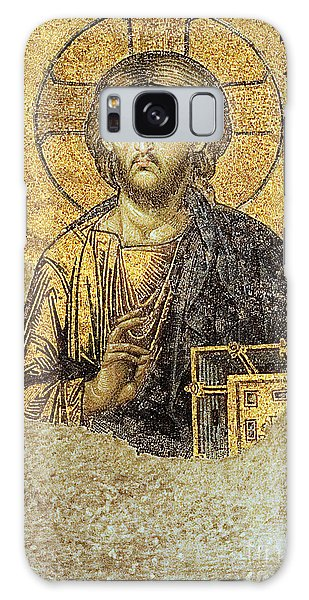 Christ Pantocrator-detail Of Deesis Mosaic Hagia Sophia-judgement Day Galaxy Case