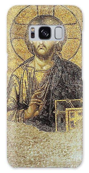 Christ Pantocrator-detail Of Deesis Mosaic Hagia Sophia-judgement Day Galaxy Case