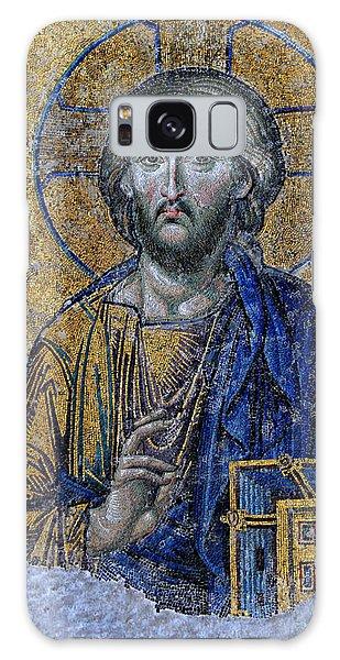 Sacred Heart Galaxy Case - Christ Pantocrator -- Hagia Sophia by Stephen Stookey