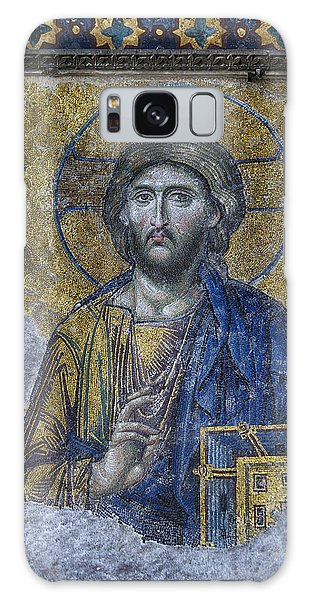 Sacred Heart Galaxy Case - Christ Pantocrator IIi by Stephen Stookey