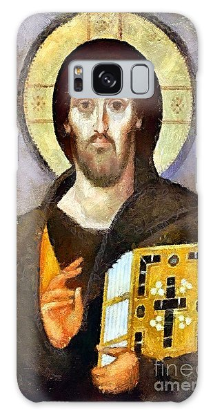 Christ Pantocrator Of Sinai Galaxy Case by Dragica  Micki Fortuna