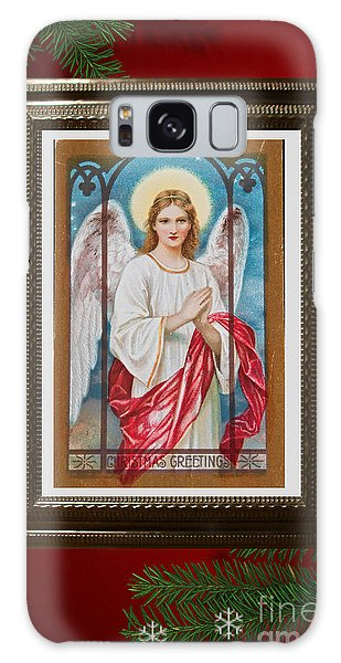 Christmas Angel Art Prints Or Cards Galaxy Case by Valerie Garner