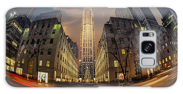Galaxy Case featuring the photograph Christmas At Rockefeller Center by Susan Candelario