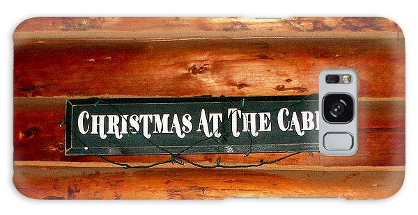 Christmas At The Cabin Galaxy Case