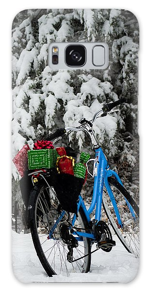 Christmas Bike Galaxy Case