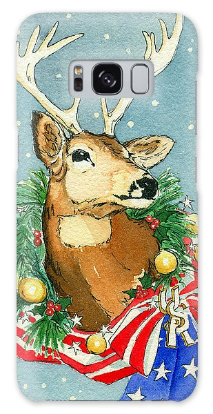 Christmas Buck Galaxy Case by Katherine Miller