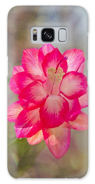 Christmas Cactus Bokeh Galaxy Case
