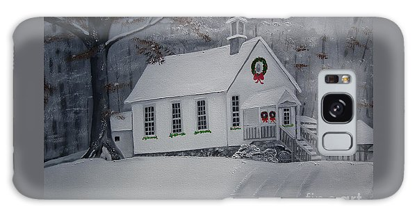 Christmas Card - Snow - Gates Chapel Galaxy Case by Jan Dappen